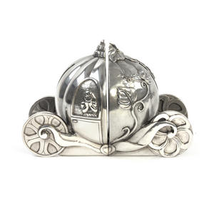 Cinderella Pumpkin Coach Pewter Bookends by Royal Selangor Thumbnail 1