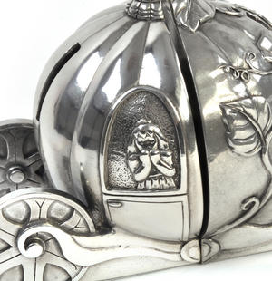Cinderella Pumpkin Coach Pewter Bookends by Royal Selangor Thumbnail 2