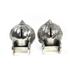 Cinderella Pumpkin Coach Pewter Bookends by Royal Selangor Thumbnail 3