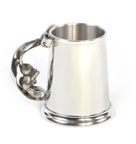 Teddy on Swing Pewter Mug in Wooden Gift Box - Teddy Bears Picnic by Royal Selangor
