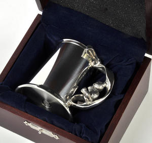 Teddy on Swing Pewter Mug in Wooden Gift Box - Teddy Bears Picnic by Royal Selangor Thumbnail 4