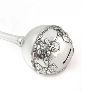 Teddy Bear Pewter Rattle in Wooden Gift Box - Teddy Bears Picnic by Royal Selangor Thumbnail 4