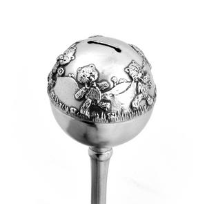 Teddy Bear Pewter Rattle in Wooden Gift Box - Teddy Bears Picnic by Royal Selangor Thumbnail 5