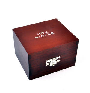Teddy Bear Pewter Rattle in Wooden Gift Box - Teddy Bears Picnic by Royal Selangor Thumbnail 6