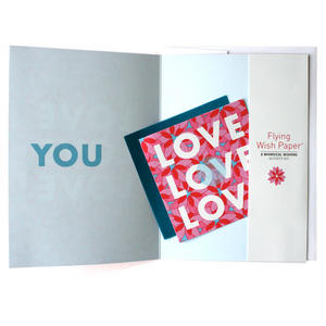 Love You - Flying Wish Paper Kit Greetings Card Thumbnail 2