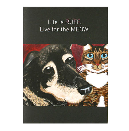 Life is Ruff - Flying Wish Paper Kit Greetings Card