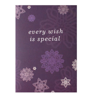 Purple Snow - Flying Wish Paper Kit Greetings Card