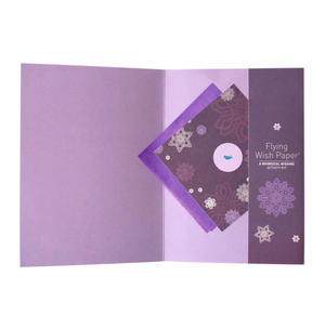 Purple Snow - Flying Wish Paper Kit Greetings Card Thumbnail 2