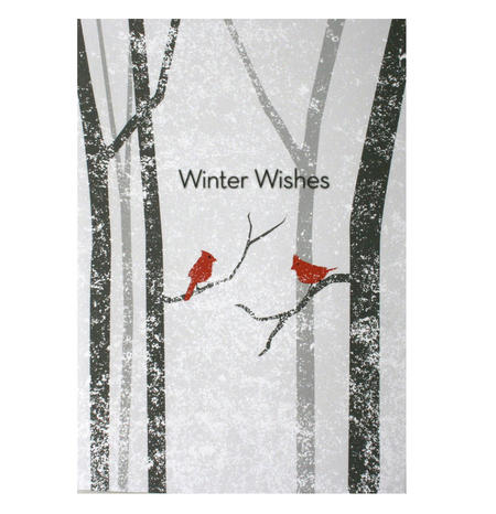 Winter Wishes - Flying Wish Paper Kit Greetings Card