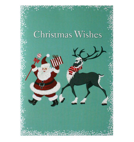 Dancing Santa - Flying Wish Paper Kit Greetings Card