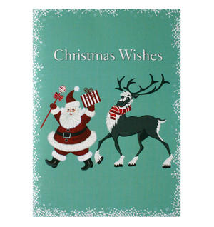Dancing Santa - Flying Wish Paper Kit Greetings Card Thumbnail 1