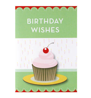 Birthday Cupcake - Flying Wish Paper Kit Greetings Card