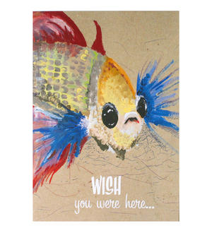 Wishing Fish - Flying Wish Paper Kit Greetings Card
