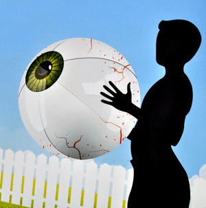 Giant Eyeball - Inflatable Eye Beach Ball Thumbnail 2