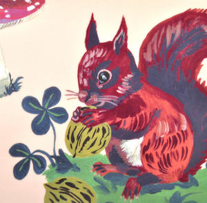 "Red Squirrel Mini Melamine Serving Tray 20cm / 8"" x 14cm / 5"" Thumbnail 2"