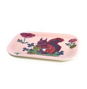 "Red Squirrel Mini Melamine Serving Tray 20cm / 8"" x 14cm / 5"" Thumbnail 3"
