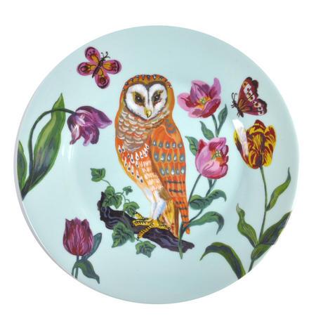 """Owl Melamine Dessert Plate 20cm / 8"""" Diameter"""