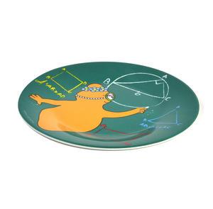 "Barbalib Maths Lesson - Barbapapa Melamine Dessert Plate 20cm / 8"" Diameter Thumbnail 3"