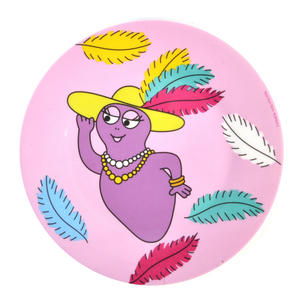 "Barbabelle Feather Boa  - Barbapapa Melamine Dessert Plate 20cm / 8"" Diameter"