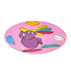 "Barbabelle Feather Boa  - Barbapapa Melamine Dessert Plate 20cm / 8"" Diameter Thumbnail 3"