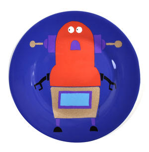 "Robots for Dinner - Melamine Dessert Plate 20cm / 8"" Diameter Thumbnail 1"