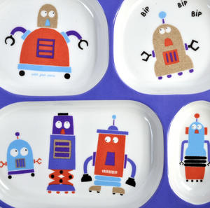 Robots for Dinner - Melamine 4 Compartment Serving Tray Thumbnail 2