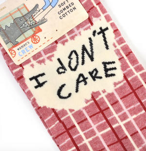 I Don't Care. I'm High. - Soft Combed Cotton Socks - Women's Crew Thumbnail 3