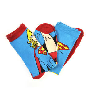 Supergirl Socks - 2 Pairs Set - Logo & Supergirl Designs Thumbnail 2