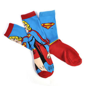 Supergirl Socks - 2 Pairs Set - Logo & Supergirl Designs Thumbnail 3
