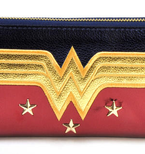Wonder Woman Shield Red, Blue & Gold Star Long Wallet Thumbnail 3