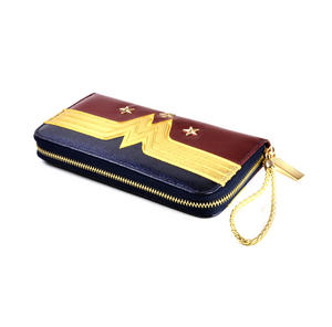 Wonder Woman Shield Red, Blue & Gold Star Long Wallet Thumbnail 4