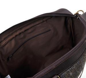 Harris Tweed Brown Leather Briefcase Thumbnail 2