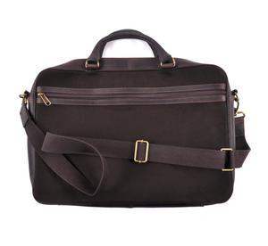 Harris Tweed Brown Leather Briefcase Thumbnail 4