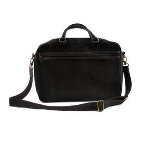 Harris Tweed Brown Leather Briefcase Thumbnail 5