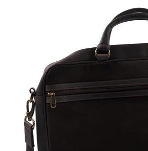 Harris Tweed Brown Leather Briefcase Thumbnail 6