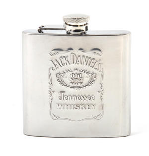 Jack Daniels Stainless Steel 6oz Hip Flask Thumbnail 1
