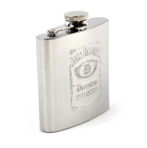 Jack Daniels Stainless Steel 6oz Hip Flask Thumbnail 2
