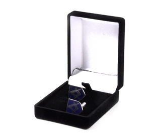 Cufflinks - Masonic Blue Shield Compass and Dividers in Presentation Case Thumbnail 3