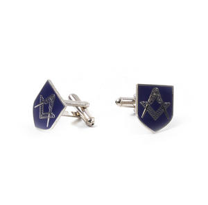 Cufflinks - Masonic Blue Shield Compass and Dividers in Presentation Case Thumbnail 4