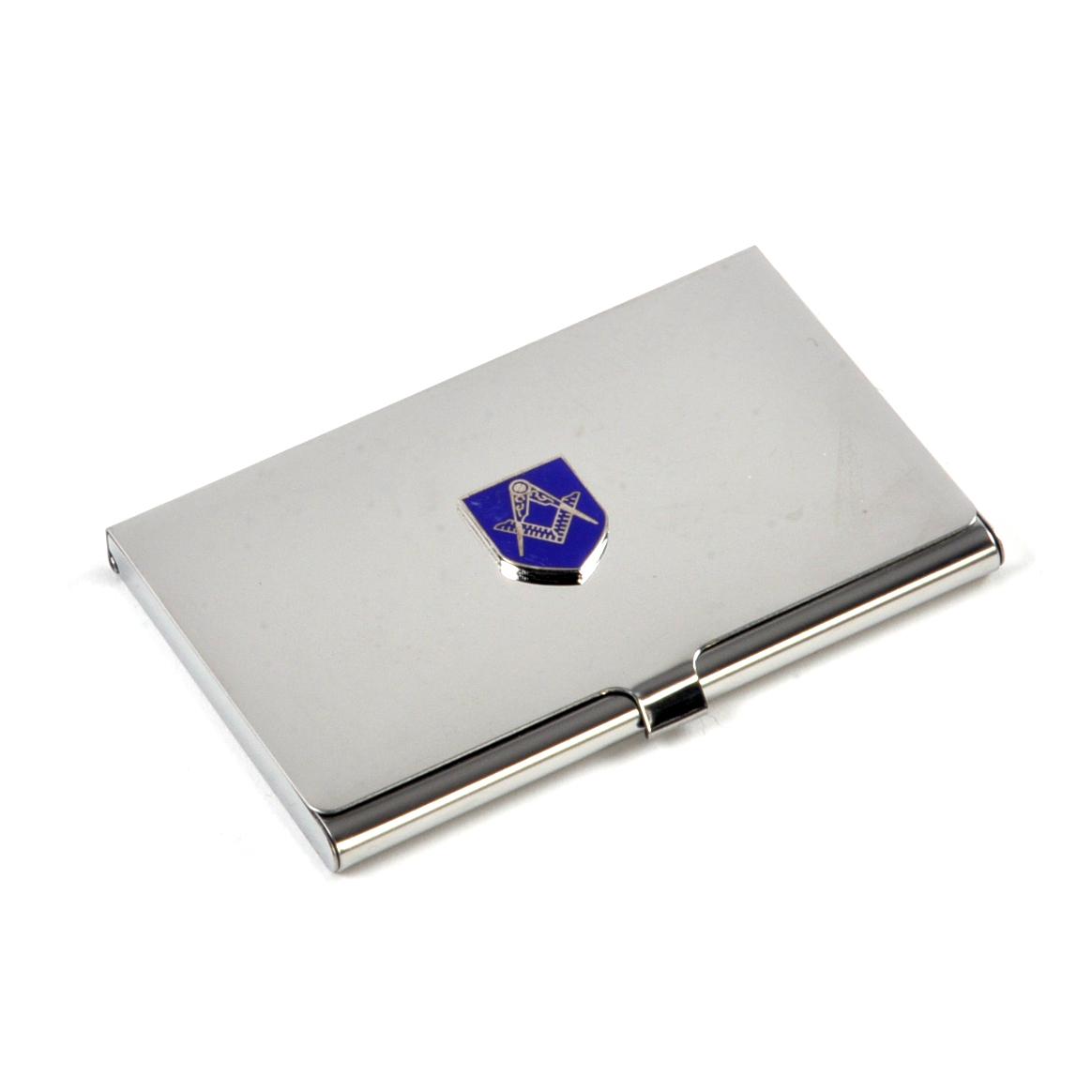 Masonic business card case high polished chrome with mason badge masonic business card case high polished chrome with mason badge colourmoves
