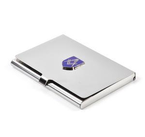 Masonic Business Card Case - High Polished Chrome with Mason Badge