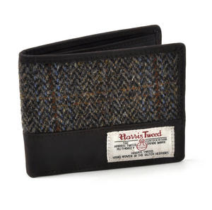 Harris Tweed Brown Outer Hebrides Leather Wallet