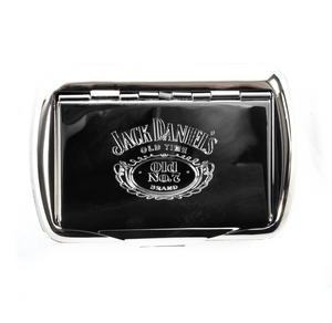 Jack Daniels Tobacco Tin - High Polished Chrome with Old N0.7 Logo