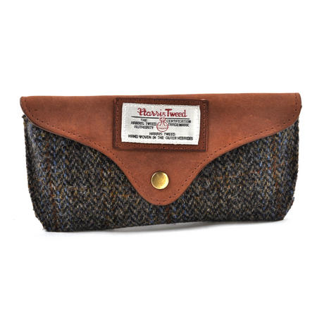 Harris Tweed Brown Outer Hebrides Glasses Case