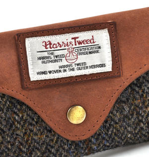 Harris Tweed Brown Outer Hebrides Glasses Case Thumbnail 2