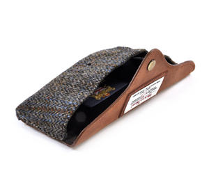 Harris Tweed Brown Outer Hebrides Glasses Case Thumbnail 3
