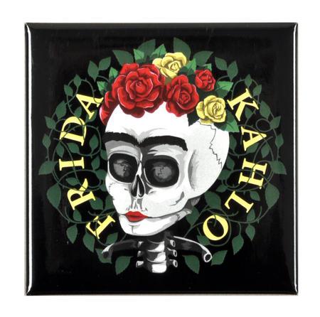 Frida Kahlo Skull Fridge Magnet