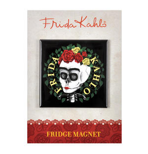Frida Kahlo Skull Fridge Magnet Thumbnail 2