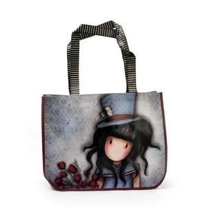 Hatter - Woven Coated Shopper Bag By Gorjuss with Purse
