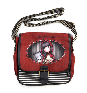 Little Red Riding Hood Coated Saddle Bag By Gorjuss